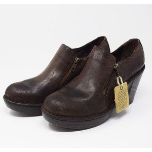 NWT Born Brown Dress Shoes with Zipper Size 7.5 M